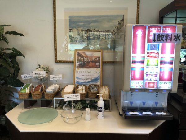 ホテルシーサイド江戸川の朝食ドリンクバー