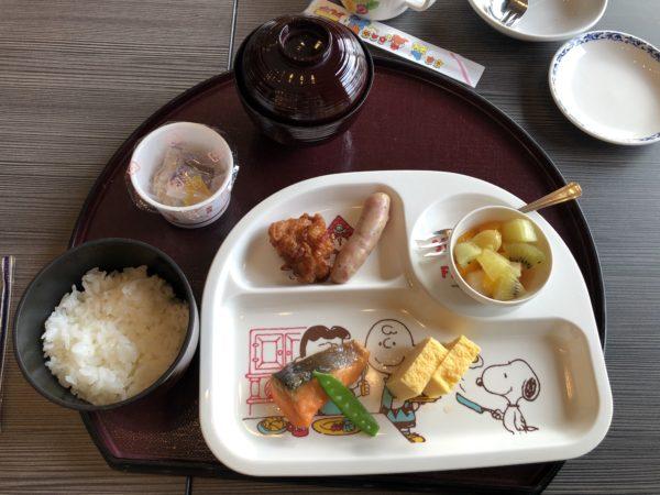 ホテルシーサイド江戸川の子ども用の朝食