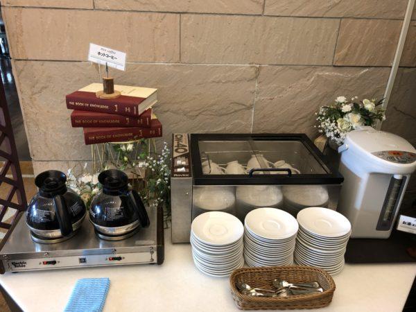ホテルシーサイド江戸川の朝食ドリンクバー、ホット