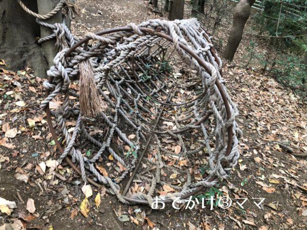 フィールドアスレチックつくし野のネット型トンネル