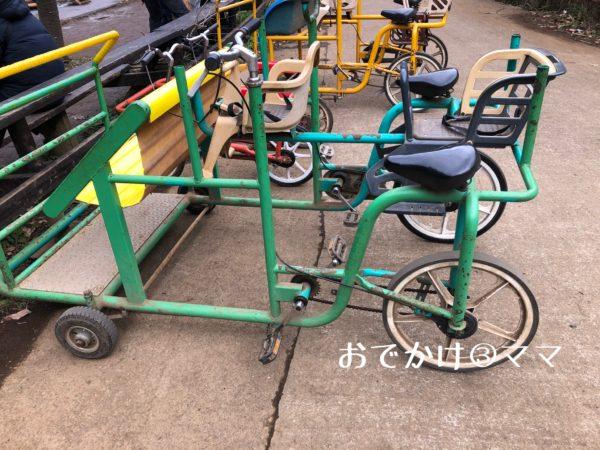 フィールドアスレチックつくし野の4人乗り自転車