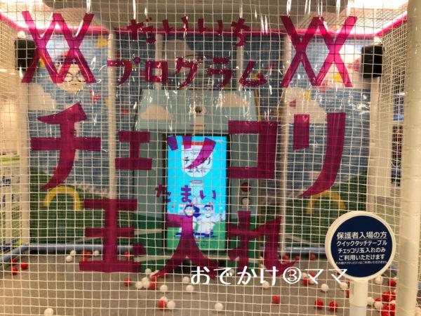 トンデミ横須賀のチェッコリ玉入れ