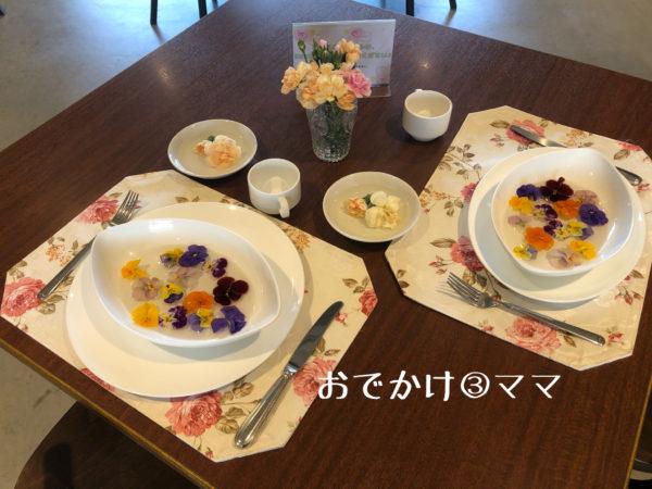 花菜ガーデンのレストランキッチンHanaの料理撮影用テーブル