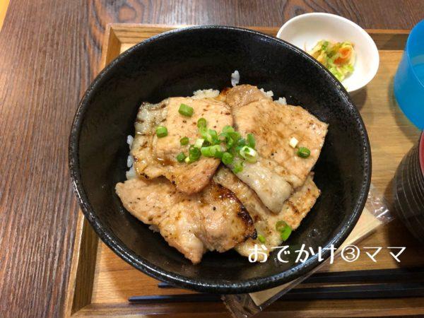 道の駅清川のレストランの豚丼