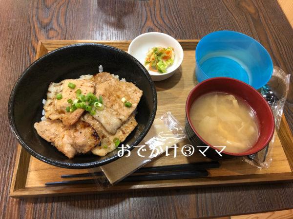 道の駅清川のレストランの豚丼セット