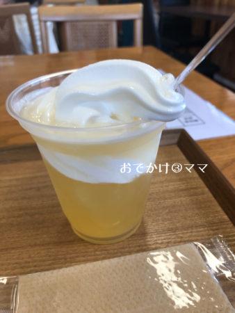 道の駅清川のレストランのりんごフロート