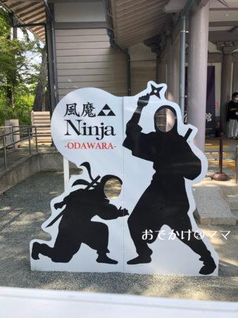 小田原忍者館の顔出しパネル