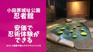 小田原城址公園忍者館の体験レポブログのアイキャッチ