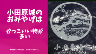小田原城のおみやげ紹介のブログのアイキャッチ画像