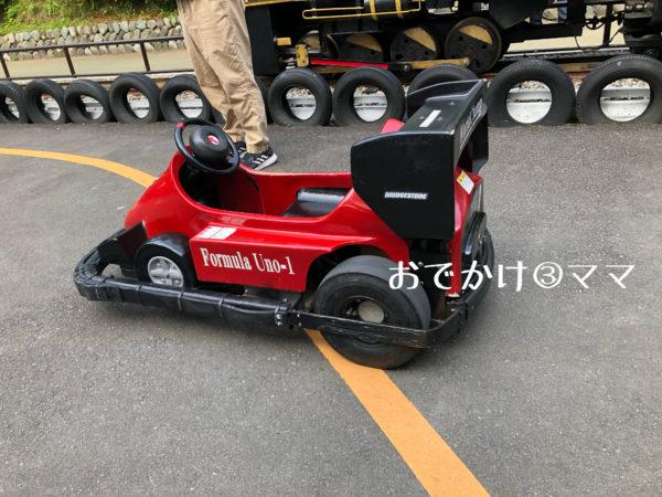 小田原城のこども遊園地のバッテリーカー
