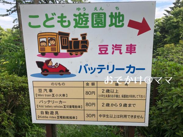 小田原城こども遊園地の看板