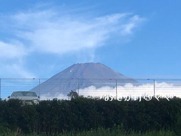 大野路ファミリーキャンプ場から見える富士山