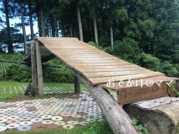 大野路ファミリーキャンプ場のチャレンジ広場の富士見大橋