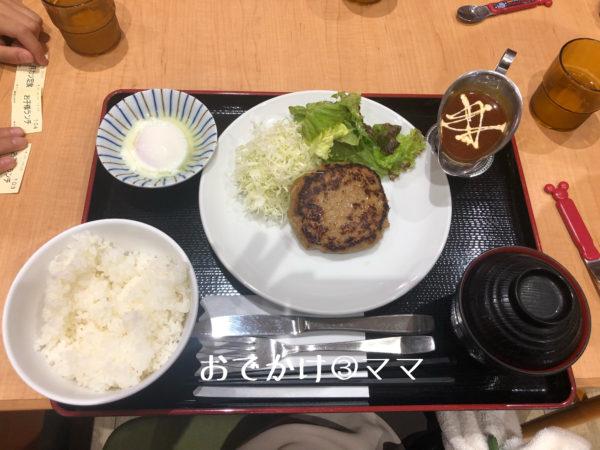 道の駅ふじおやまのハンバーグ定食